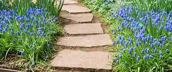 garden paths and stepping stones. country cottage garden style stepping stones paths and