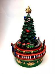 animated miniature christmas tree with train
