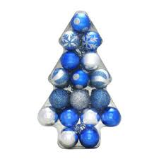 trim a home 35 mm shatterproof ball christmas ornaments in tree