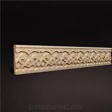 3d marble border 3d wall decoration border design beige dimensional natural marble design for villa