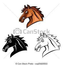 coloring book horse head caracter csp25820553