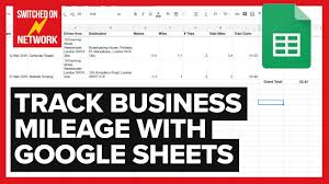 Excel Mileage Chart How To Calculate Track Your Business Mileage Automatically With Google Sheets