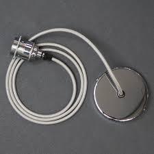 chrome silver single ceiling rose pendant light kit