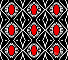 Abstract Art Black And White Patterns Pattern Geometric Black White Red Art No 391