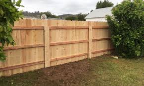 wood fence backyard. Cedar Wood Fence Installers Privacy Fencing Escondido Backyard