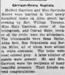 Gertrude Meier wedding - Newspapers.com