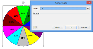 10 Pie Chart Add Over 10 Slices To A Visio Pie Chart And Bind Thickness
