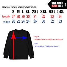 Streetwear T Shirt Size Chart Sneakermatchtees Com