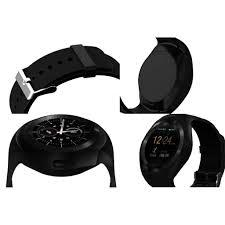 Đồng hồ thông minh Y1 mặt tròn, lắp sim thẻ nhớ (đen) -dc3289 - Đồng hồ  thông minh Nhãn hàng No Brand