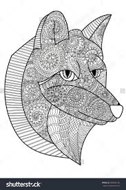 367 best coloring wolf, fox images on Pinterest | Colouring, Fox ...