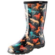 garden boots for women. Modren Garden Womenu0026x27s Sloggers Waterproof Tall Rubber Garden Boots  Horse Spirit  Print In For Women