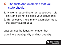 xat essay  16 the facts and examples
