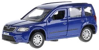 машина технопарк skoda yeti полиция 259939 серебристый синий 12 см