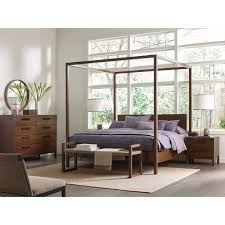 Calvin Klein Bedroom Furniture King Size Canopy Bed Frame Wood Calvin Klein Modern Chic White Oak