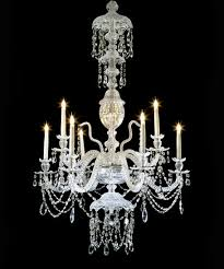 antique cut glass chandelier