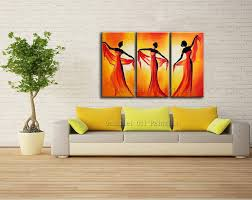 Oil Paintings For Living Room New Hand Painted Abstract Dancer Oil Painting Group Paintings