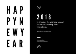 Black And White Greeting Card Black White Minimalist New Year Greeting Card Templates By Canva