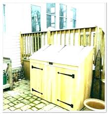 garbage bin e outdoor trash can sheds ideas storage shed