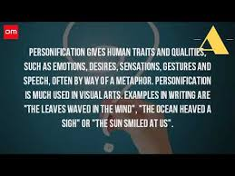 what is an example of personification  what is an example of personification