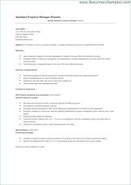 Cover Letter For Assistant Property Manager Cover Letter Assistant