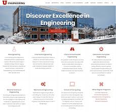 University Of Utah Scholarship Chart The College Of Engineering At The University Of Utah