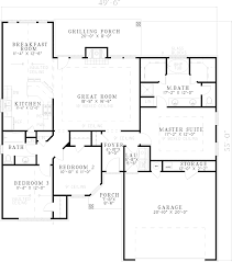 house plans one story. Plain Story Southern House Plan First Floor  055D0565  Plans And More With One Story O