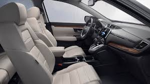 image of 2018 cr v leather trimmed seating