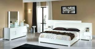 I High Gloss Bedroom Furniture White Italian
