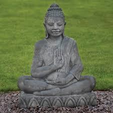java stone buddha statue large garden ornament