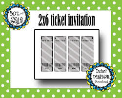 Movie Ticket Template Free Download 24X24 Ticket Invitation Template Birthday Party Movie Ticket 24