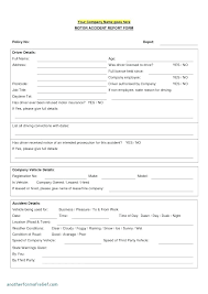 Sample Police Report Form Crime Report Templates Doc Free