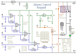 how to build a simple alarm control keypad a circuit diagram for an alarm control keypad