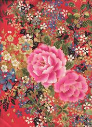 Floral Bouquet: Crimson Red/Gold Metallic (BTY) Asian Quilt Fabric ... & Floral Bouquet: Crimson Red/Gold Metallic (BTY) Asian Quilt Fabric Adamdwight.com
