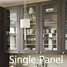 Glass kitchen cabinet doors Dark Wood Single Panel Kitchen Cabinet Glass Door Integrity Windows Cleveland Glass Window Company Provides Glass For Kitchen Cabinets