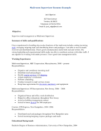 Mail Room Supervisor Resume Example Of Supervisor Resume Mailroom Example Page Cover Letter 12