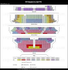 Her Majestys Theatre London Seat Map And Prices For The