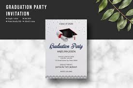Graduation Program Invitation Designs Graduation Party Invitation Template Graduation