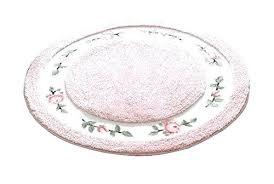 pink round area rugs pink flower rug round soft cute rose fl microfiber bathroom area rugs