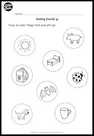 English worksheet for kindergarten 3. Ending Sounds Worksheets And Activities