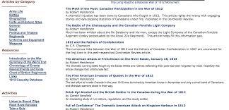 War Of 1812 Chart Great War Of 1812 Articles Battles 1812