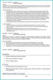 Digital Communications Resume Marketing Cv Examples Under Fontanacountryinn Com