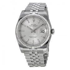 rolex men s datejust silver diamond jubilee bracelet fluted bezel rolex men s datejust silver index dial 18k white gold fluted bezel jubilee bracelet watch