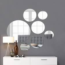 Mirror Design Wallpaper Light In The Dark Medium Round Mirror Wall Mounted Assorted Sizes 1x10 3x7 3x4 Set Of 7 Round Glass Mirrors Wall Decoration For Living Room