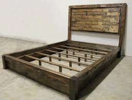 rustic bed plans. Contemporary Plans Rustic Platform Bed Frame Arkool For Plans 14  Intended W