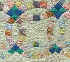 Quilt for Sale Twin or Lap Quilt Vintage  Green Double Wedding ... & Picture 3 of Quilt for Sale Twin or Lap Quilt Vintage