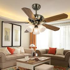 ceiling fans with lights for living room. Get Quotations · COLORLED Europe Style Retro 52-Inch Ceiling Fans With 5 Wood Blades And Glass Light Lights For Living Room U