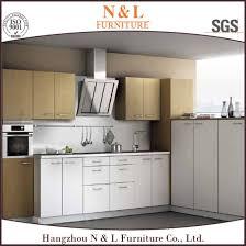 n l mintcream color moistureproof open shelf glass door kitchen cabinet