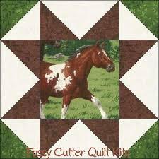 Colts Horses Mares Pony Stallion Fabric Easy Pre-Cut Quilt Blocks ... & Colts Horses Mares Pony Stallion Fabric Easy Pre-Cut Quilt Blocks Top Kit Adamdwight.com