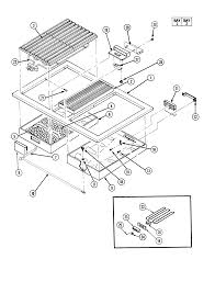 jenn air parts. s136 range top assembly parts diagram jenn air