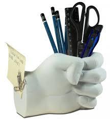 office pen holder. White Left Hand Pen Holder Office P